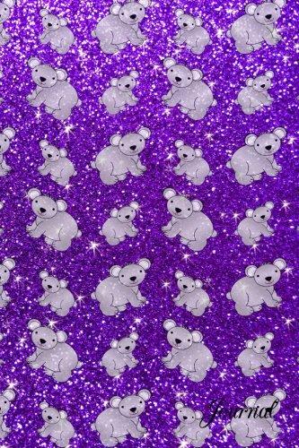 9781536863864: Journal: Faux purple glitter koala notebook