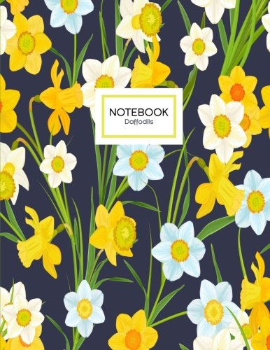 9781536879810: Daffodils Notebook: A Yellow Daffodil Flowers Notebook, 8.5 x 11