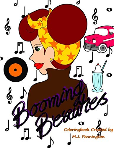 9781536896558: Booming Beauties: Coloringbook by M.J. Pennington