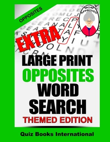 9781536944280: Extra Large Print Opposites Word Search
