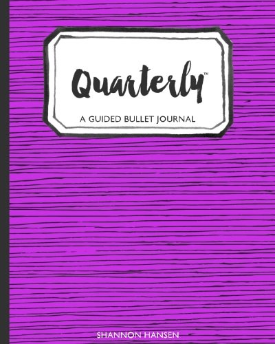 9781536948127: Quarterly A Guided Bullet Journal Purple Tribal