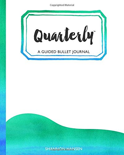 9781536949025: Quarterly Guided Bullet Journal Watercolor Wave Caribbean