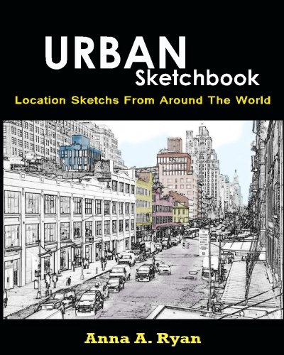 9781536952391: Urban Sketchbook : Location Sketchs From Around The World: Urban Coloring Book