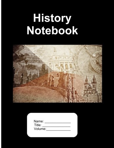 9781536958089: History Notebook. 250 Pages Lined Paper. 8.5