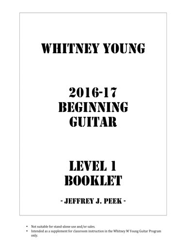 9781537006918: Whitney Young 2016-17 Beginning Guitar Book