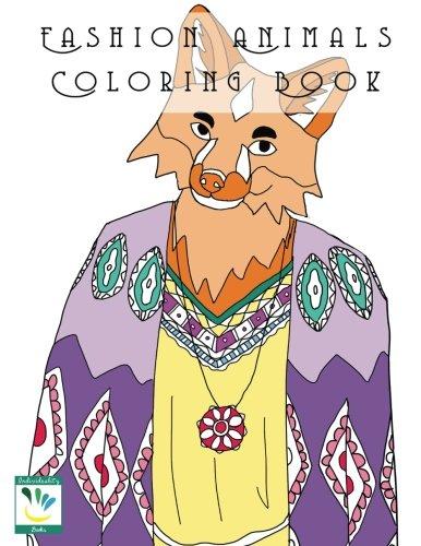 9781537012865: Fashion Animals Coloring Book