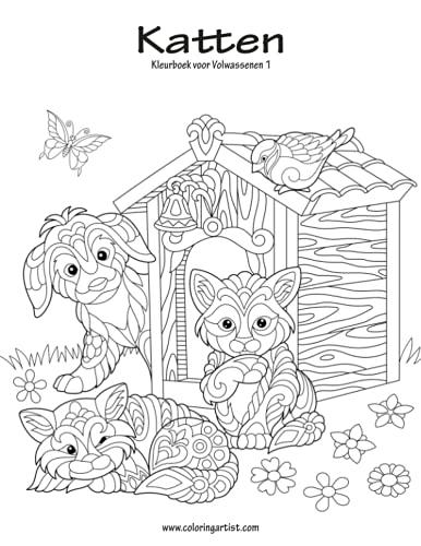 9781537055527: Katten Kleurboek voor Volwassenen 1 (Volume 1) (Dutch Edition)