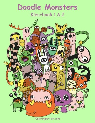 9781537056043: Doodle Monsters Kleurboek 1 & 2 (Dutch Edition)