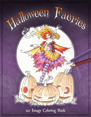 9781537067582: Halloween Faeries Coloring Book
