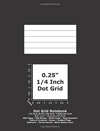 9781537072449: Dot Grid Notebook: 0.25 Inch (1/4