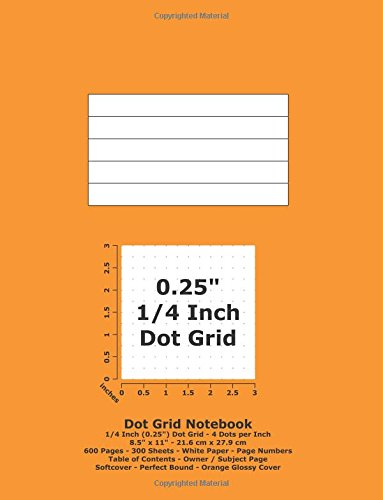 9781537072531: Dot Grid Notebook: 0.25 Inch (1/4
