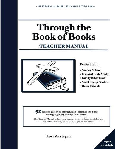 9781537082974: Through the Book of Books Teacher Manual