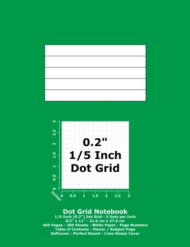 9781537101095: Dot Grid Notebook: 0.2 Inch (1/5