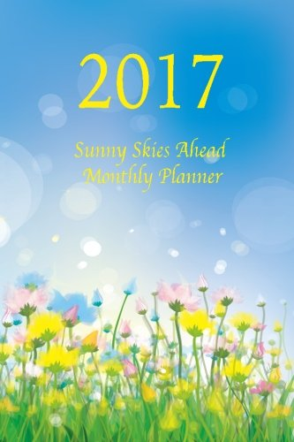 9781537109725: 2017 Sunny Skies Ahead Monthly Planner: Large 8.5x11 16 Month August 2016-December 2017 Organizer
