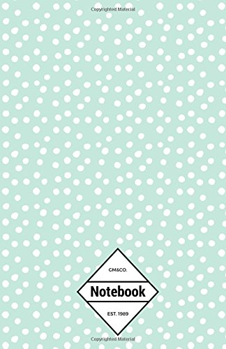 "9781537156583: GM&Co: Notebook Journal Dot-Grid, Lined, Graph, 120 pages 5.5""x8.5"" (Green Animal Dots)"