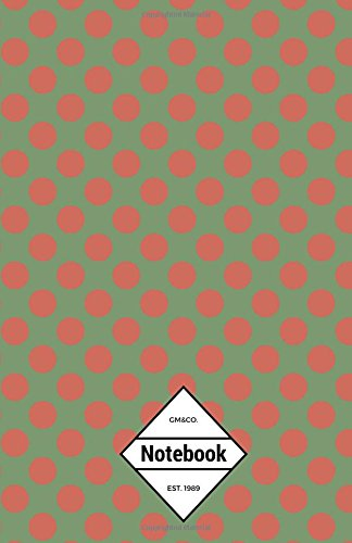 "9781537196053: GM&Co: Notebook Journal Dot-Grid, Lined, Graph, 120 pages 5.5""x8.5"" (Christmas Theme Green Red Polka Dots) (Christmas Notebook) (Volume 1)"