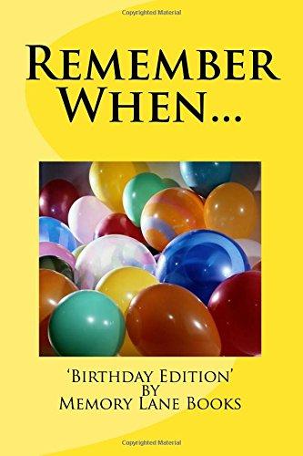 9781537210155: Remember When: Birthday (6x9)