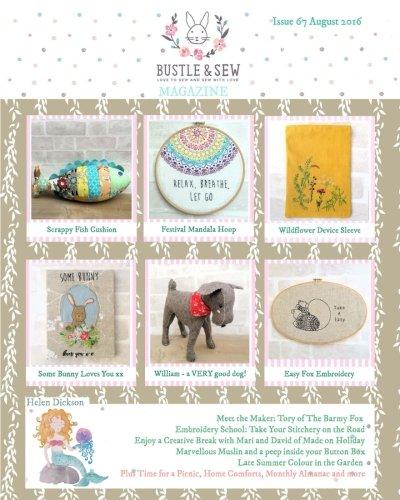 9781537248158: Bustle & Sew Magazine Issue 67 August 2016