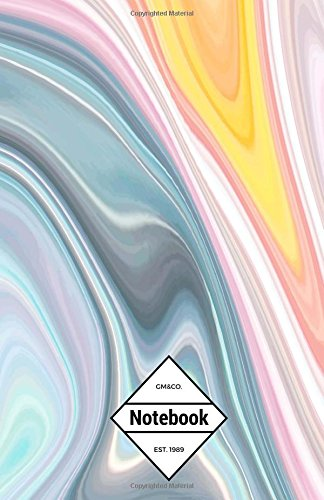 """9781537252995: GM&Co: Notebook Journal Dot-Grid, Lined, Graph, 120 pages 5.5""""x8.5"""": Watercolor Pink Marble (Pastel Marble Collection) (Volume 1)"""