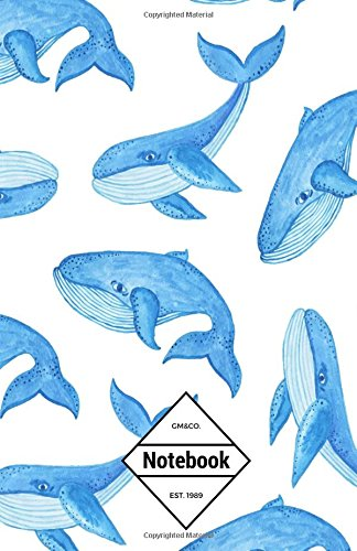 """9781537269214: GM&Co: Notebook Journal Dot-Grid, Lined, Graph, 120 pages 5.5""""x8.5"""": Deep Ocean Blue Whale"""