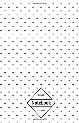 """9781537270234: GM&Co: Notebook Journal Dot-Grid, Lined, Graph, 120 pages 5.5""""x8.5"""": Mini Black Triangle Polka (Polka Dot Notebook)"""