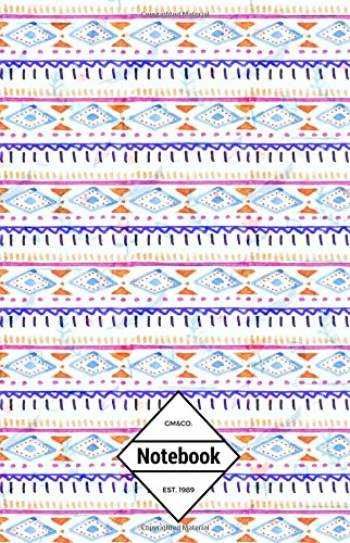 """9781537308852: GM&Co: Notebook Journal Dot-Grid, Lined, Graph, 120 pages 5.5""""x8.5"""": Watercolor Aztec Bohemian Hippy"""