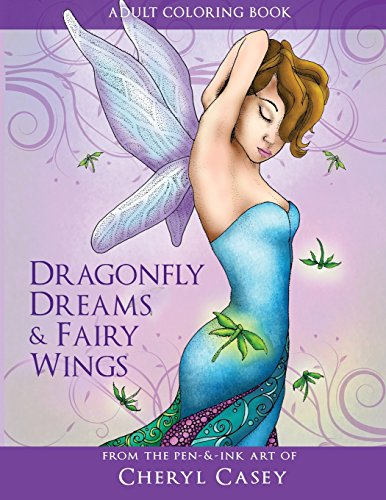 9781537320014: Adult Coloring Book: Dragonfly Dreams and Fairy Wings: Coloring Books for Grown-Ups