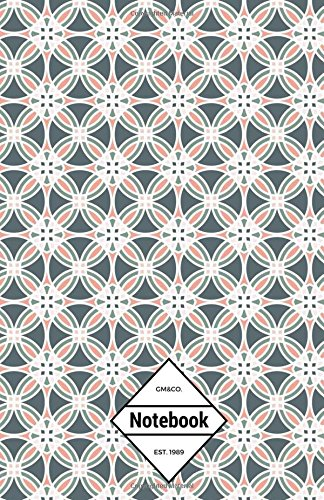 """9781537333649: GM&Co: Notebook Journal Dot-Grid, Lined, Graph, 120 pages 5.5""""x8.5"""": Moroccan Textiles"""