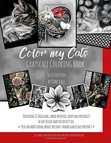 9781537342818: Color my Cats Grayscale Coloring Book
