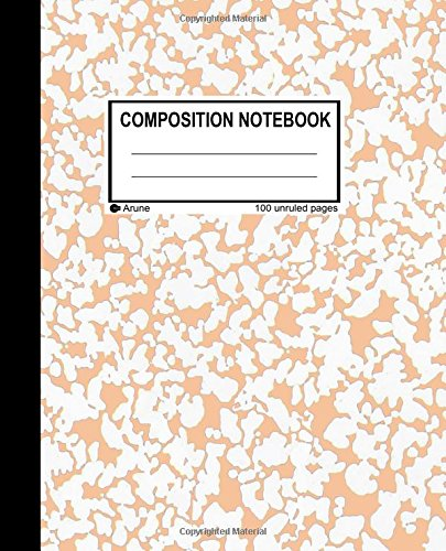 9781537343143: Unruled Composition Notebook: 100 unruled pages [50 sheets], 7.5