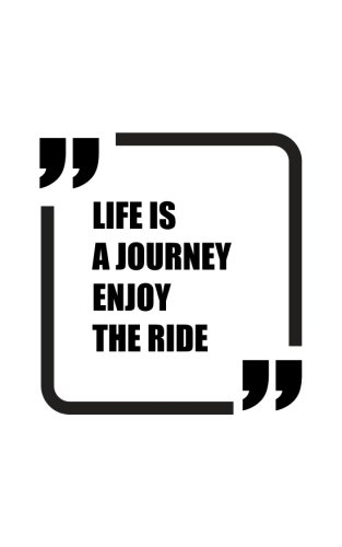 9781537343891: Life is a journey Enjoy the Ride, Notebook,Diary,Small Journal Series, 64P,5