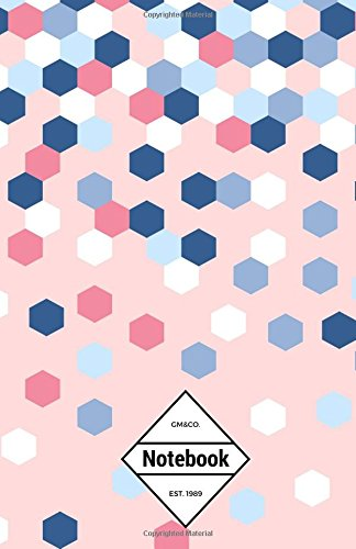 "9781537362700: GM&Co: Notebook Journal Dot-Grid, Lined, Graph, 120 pages 5.5""x8.5"": Hexagon Confetti Pink (Confetti Notebook)"