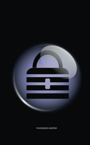 9781537398679 password keeper black padlock password keeper