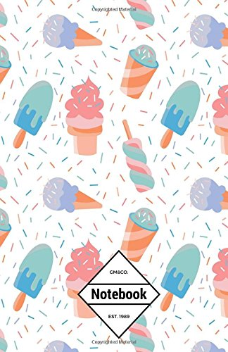 """9781537402444: GM&Co: Notebook Journal Dot-Grid, Lined, Graph, 120 pages 5.5""""x8.5"""": Sprinkle Pastel Lollipop Ice Cream"""