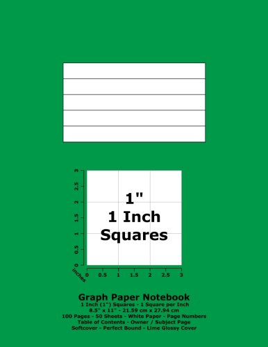 9781537409795: Graph Paper Notebook: 1 Inch (1