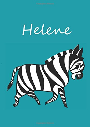 9781537411859: Notebook / diary / coloring book - Helene: DIN A4 - Zebra - blank