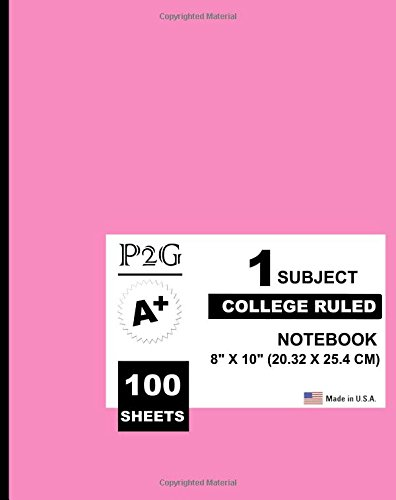 9781537421056: 1 subject college ruled notebook: Pastel Purple Cover,1 Subject, 100 College Ruled Sheets,8