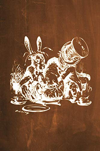 9781537423036: Alice in Wonderland Chalkboard Journal - Mad Hatter's Tea Party (Orange): 100 page 6