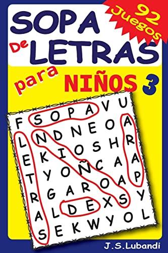 Sopa de Letras para Niños 3 (Volume: Lubandi, J S