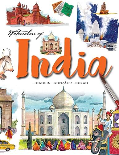 9781537447735: Watercolors of India