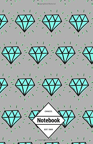 """9781537451381: GM&Co: Notebook Journal Dot-Grid, Lined, Graph, 120 pages 5.5""""x8.5"""": Glow in the Dark Diamond"""