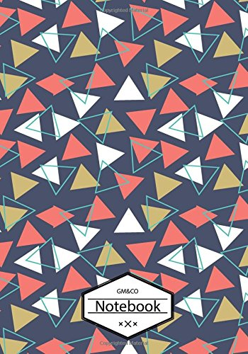 "9781537456188: GM&Co: Notebook Journal Dot-Grid, Blank, Cornell Line, 120 pages 7""x10"": Bold Blank Triangle"