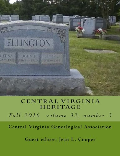9781537478289: Central Virginia Heritage Fall 2016