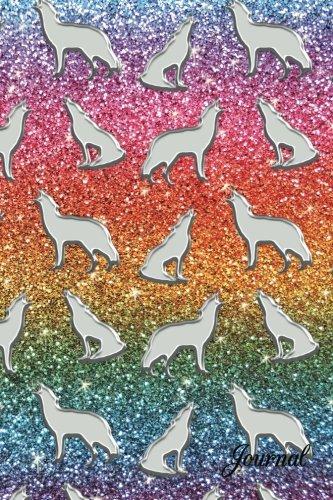 9781537482644: Journal: Faux rainbow glitter wolf notebook