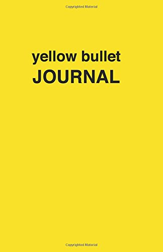 9781537487304: Yellow bullet Journal: Soft Cover, 5.5 x 8.5 inch, 200 pages