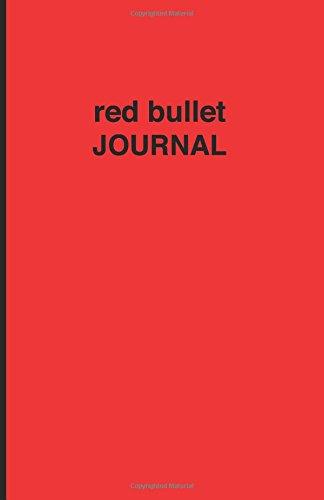 9781537488189: Red bullet Journal - Cuaderno de puntos rojo: Tapa blanda, 14 x 21 cm, 200 paginas (Spanish Edition)