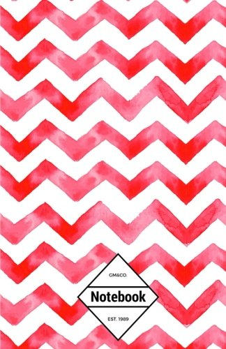 "9781537488646: GM&Co: Notebook Journal Dot-Grid, Lined, Graph, 120 pages 5.5""x8.5"": Hot Red Chevron (Chevron Notebook)"