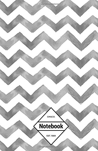 "9781537489025: GM&Co: Notebook Journal Dot-Grid, Lined, Graph, 120 pages 5.5""x8.5"": Smoke Grey Chevron (Chevron Notebook)"