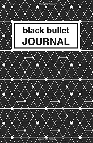 9781537489261: Black patterned bullet Journal: Soft Cover, 5.5 x 8.5 inch, 200 pages