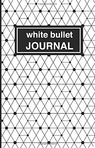 9781537489612: White patterned bullet Journal: Soft Cover, 5.5 x 8.5 inch, 200 pages